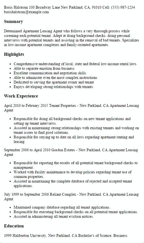 Leasing Agent Resume Sample Manager If You Are Interested In Making