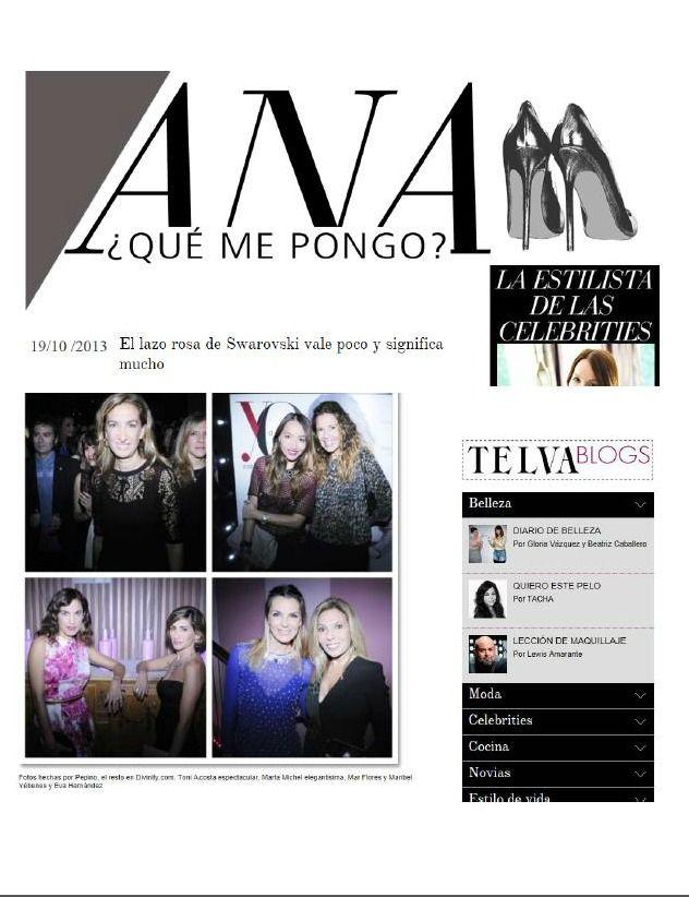 Blog Ana ¿Qué me pongo? de Telva. 19/10/13 #YDPinkHopeParty