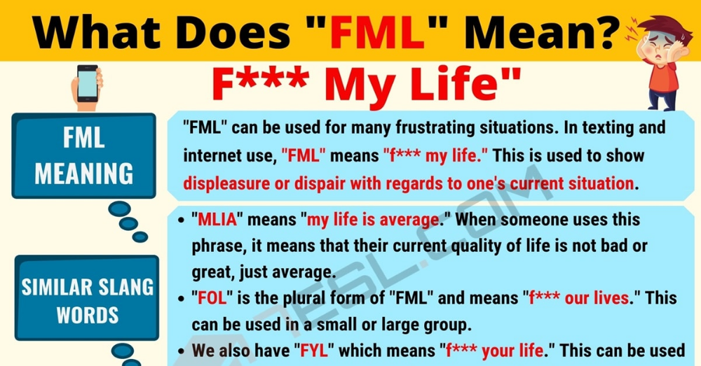 FML Meaning: What Does FML Mean? Interesting Text ...