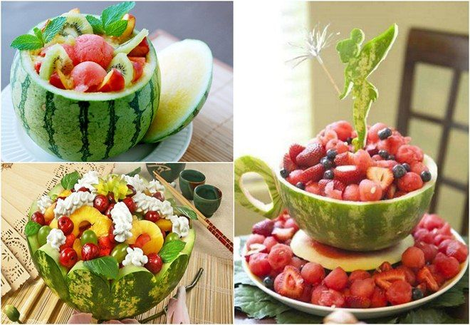 Bowl Decoration Ideas Tabledecorationideassummerwatermelonbowlssalad