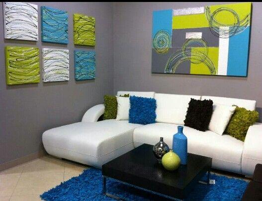 Turquesa y verde decoraci n sala pinterest turquesa for Decoracion del hogar en puerto rico