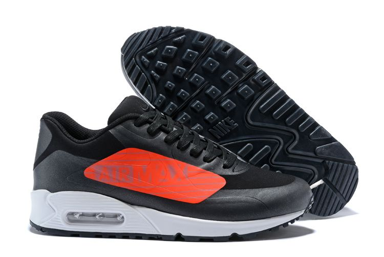 official photos 4a66e 535e1 2018 Real Men Nike Air Max 90 Big Logo Black Orange White AJ7182-003