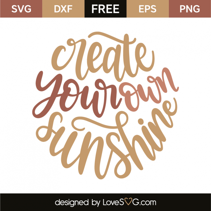 Create your own sunshine | CRICKET! or CRICUT | Free svg cut files