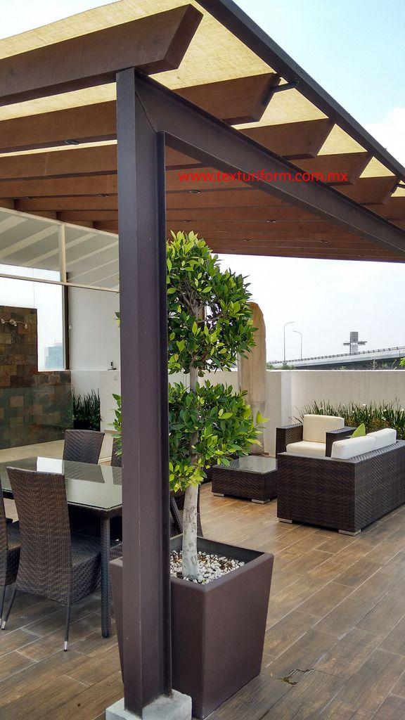 Pergola Texturiform Madera En 2019 Diseño De Terraza