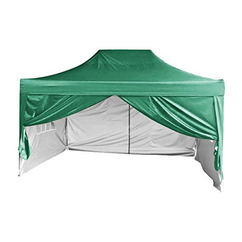 Quictent Silvox Waterproof 10x15 Ez Pop Up Canopy Commercial Gazebo Party Tent Green Portable Pyramidroofed Style Removable Sides With R Party Tent Tent Gazebo