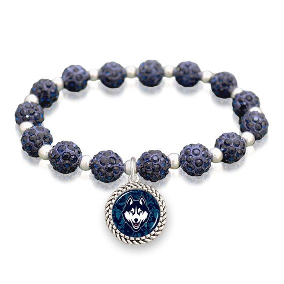 UConn Huskies Sparkle Stretch Bracelet by ShopCharmingCollect