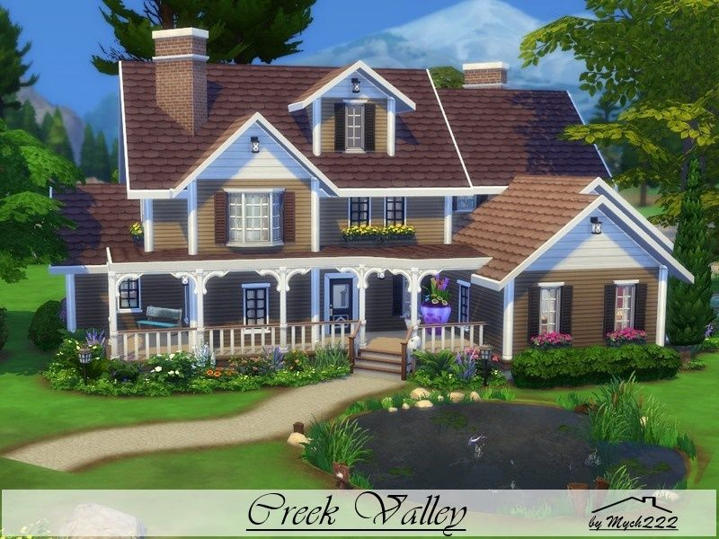 Creek Valley Is A Diagonally House Built On 40x40 Lot In