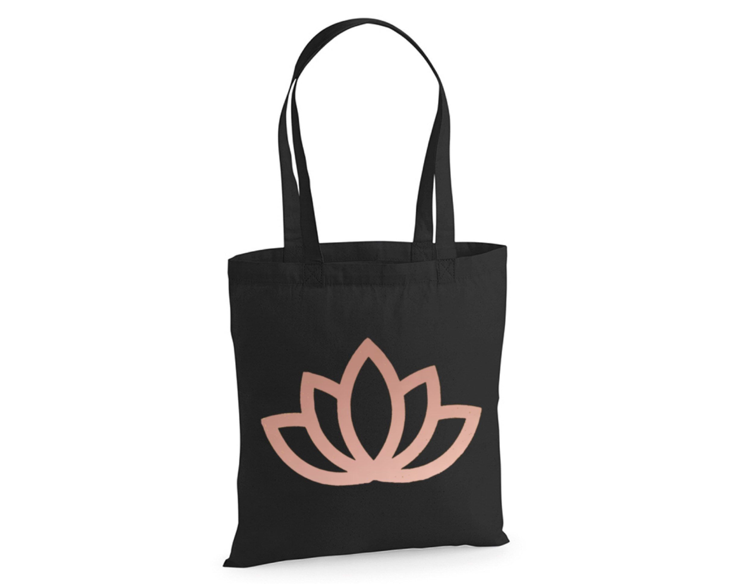 Lotus Flower Tote Bag Personalised Cotton Tote 140 Gsm Yoga