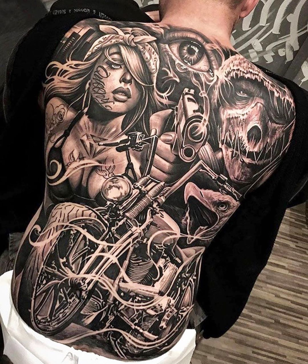 101 Awesome Back Tattoo Designs You Need To See in 2020  Full back  tattoos Back tattoo Chicano tattoos