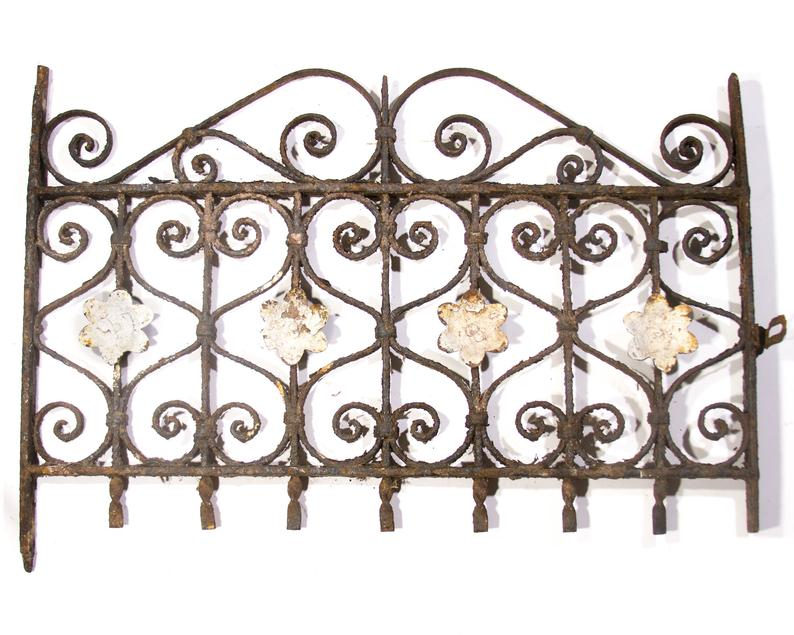 Antique Fence Wrought Iron Fence Hearts 1800s Window Grate Ornate Old Victorian 1800s Antique Fence In 2020 Wrought Iron Fences Shed Decor Metal Flower Wall Art