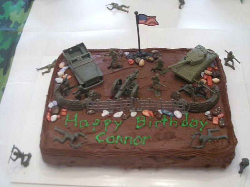 Groovy Military Themed Cakes Baked An 11X13 Chocolate Cake In My Wilton Funny Birthday Cards Online Elaedamsfinfo