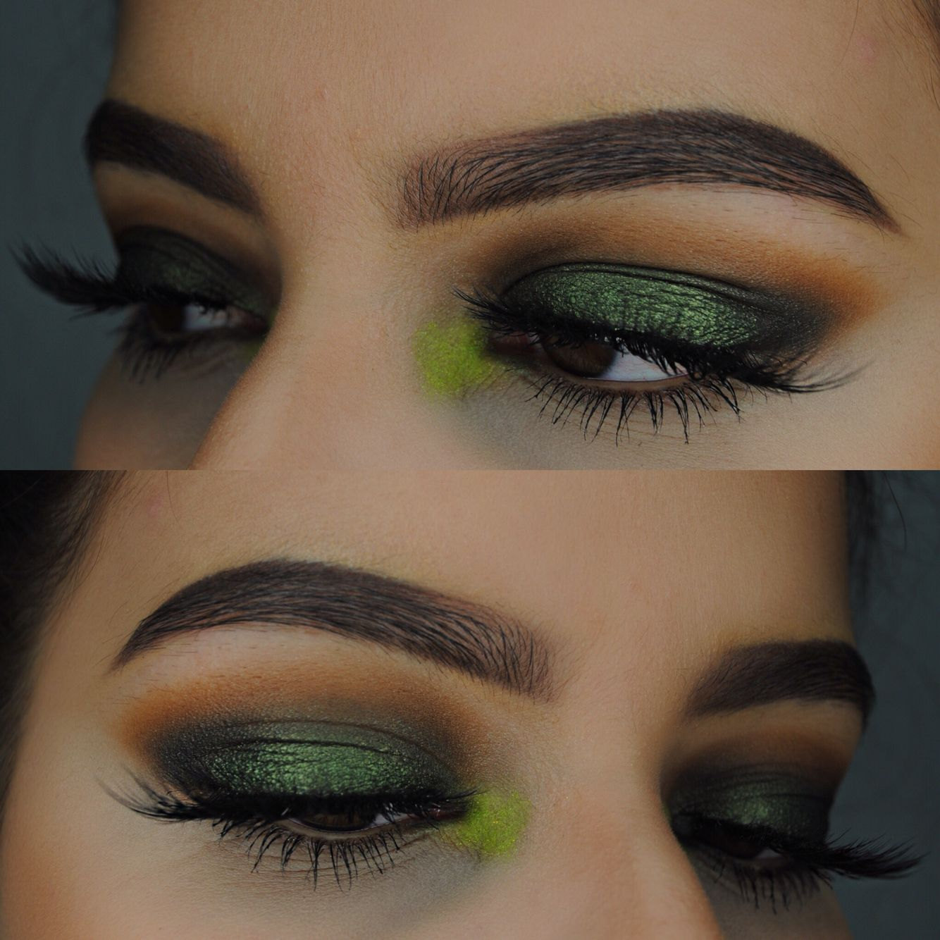 Lime green POP of Color! Brows anastasiabeverlyhills