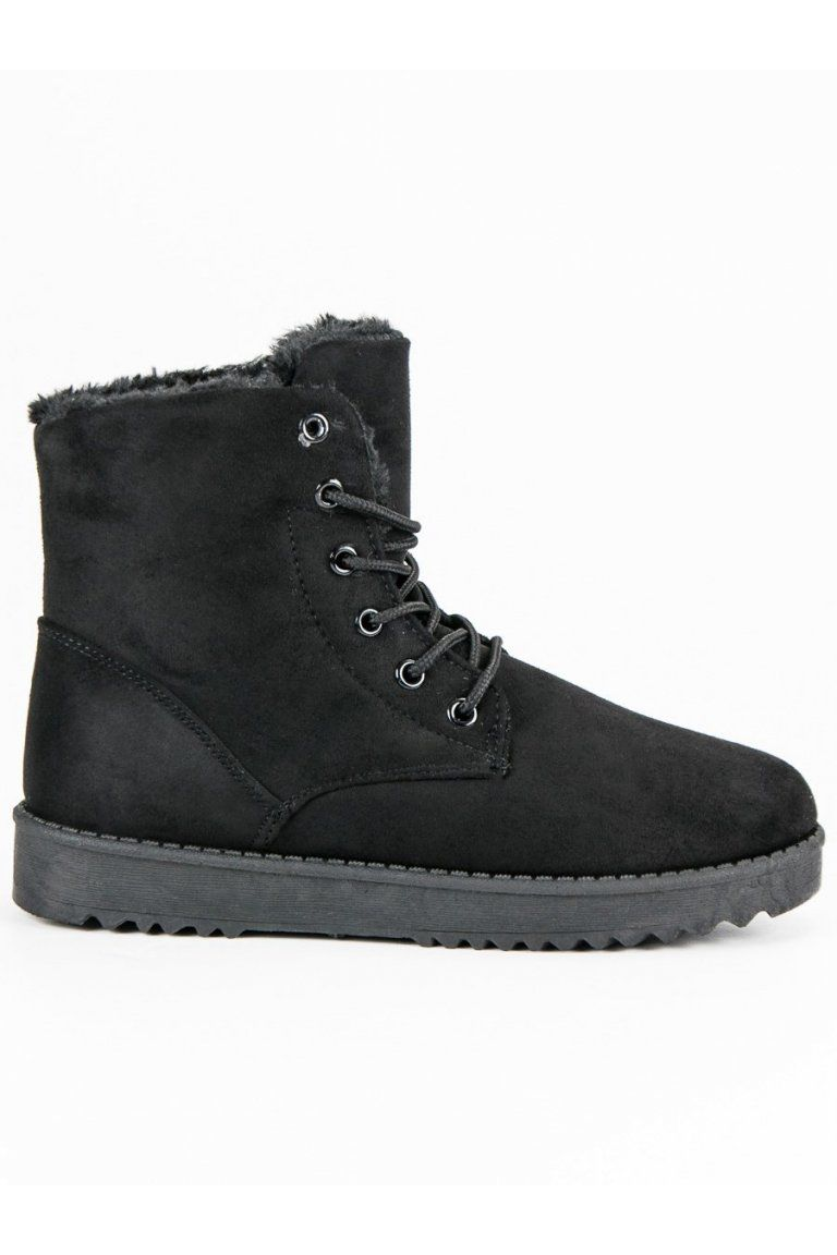 Čierne semišové topánky Forever Folie  143fd6de1e7