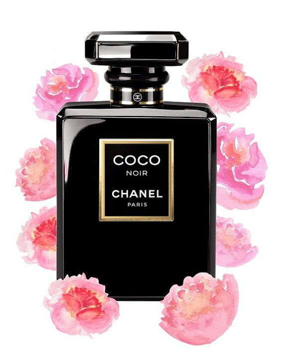 chanel print coco chanel print chanel perfume printable art coco chanel fashion print. Black Bedroom Furniture Sets. Home Design Ideas