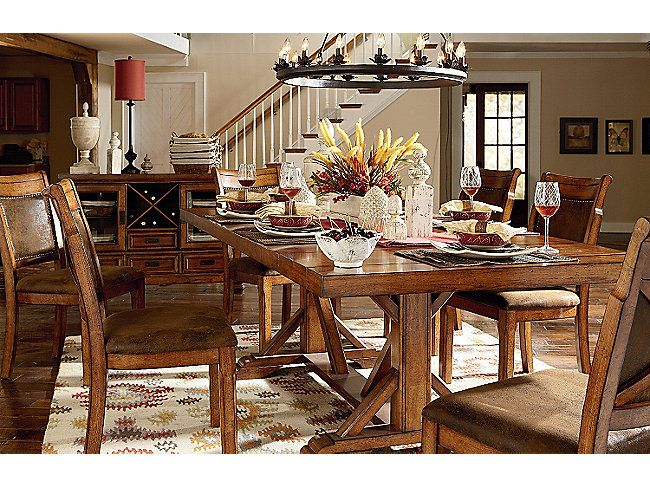 Woodsman Table And 4 Side Chairs Dining Room Art Table Furniture