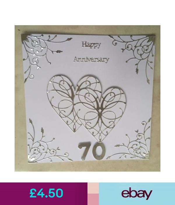 Cards & Stationery Handmade Platinum Wedding Anniversary
