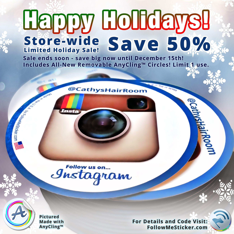 @FollowMeSticker Holiday Super-Sale: 50% OFF! Details: http://followmesticker.com/products  #socialmedia #smm #marketing #business