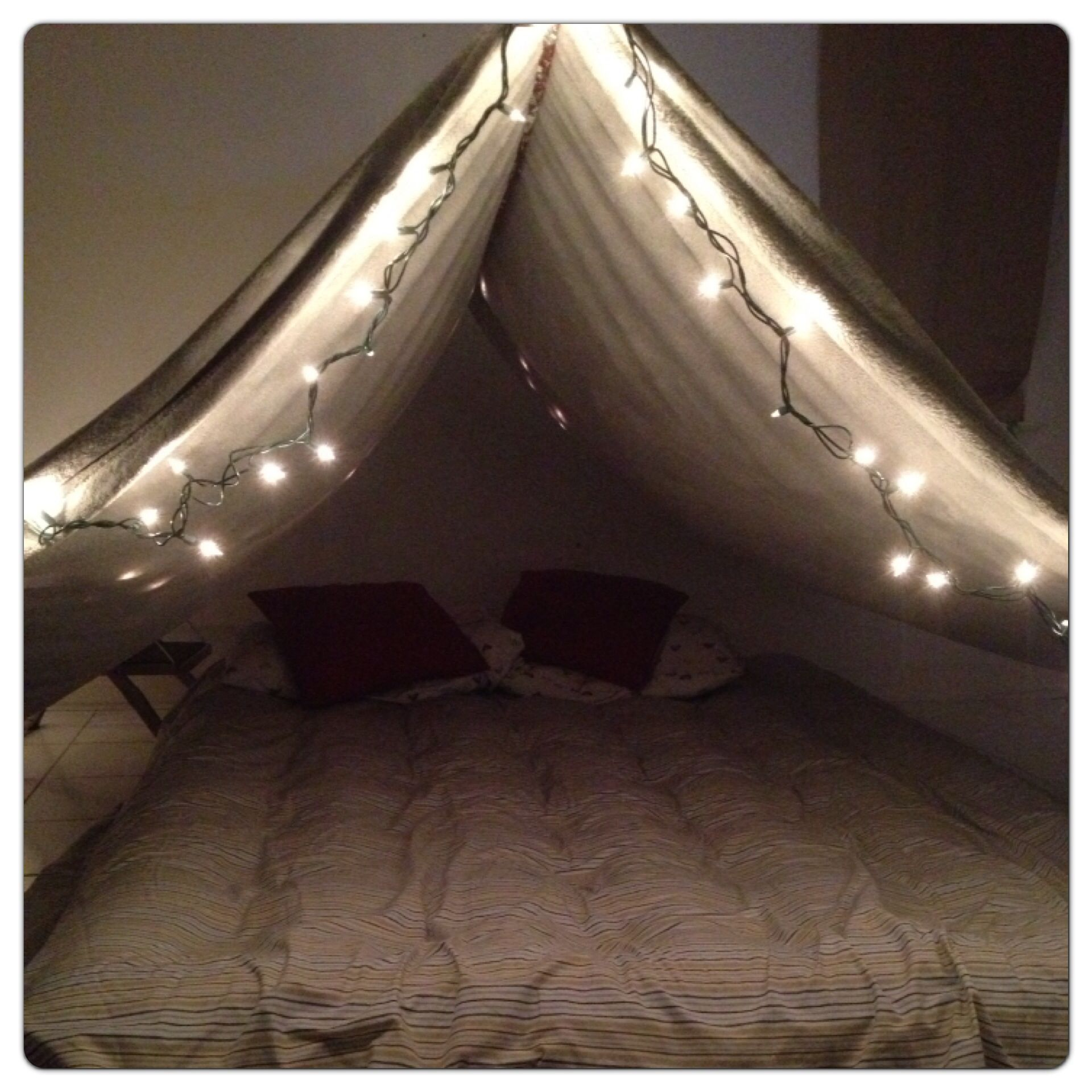 Indoor Tent. Romantic.