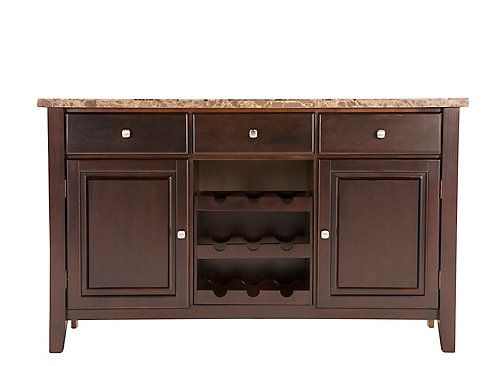 Bedrock Marble Sideboard W Wine Storage In 2019 For The