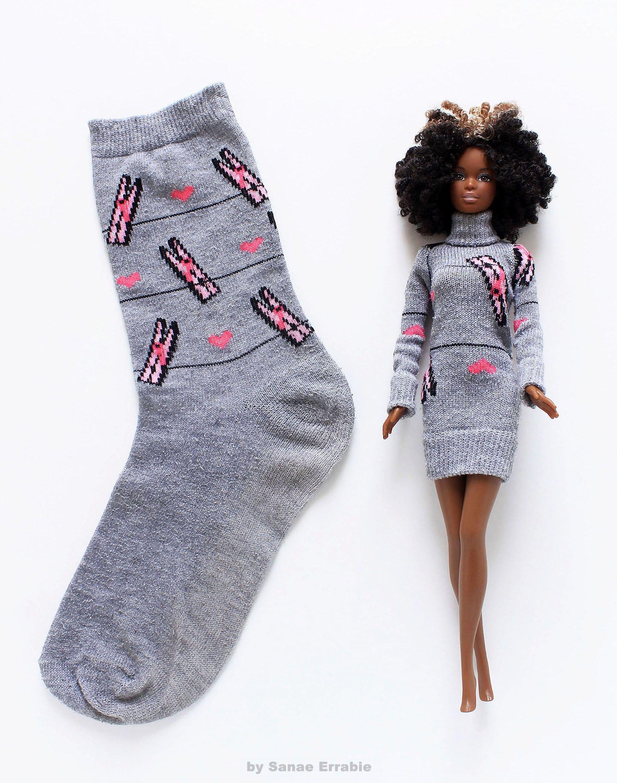 Photo of barbie clothes diy #crochetedbarbiedollclothes #sockscrafts …