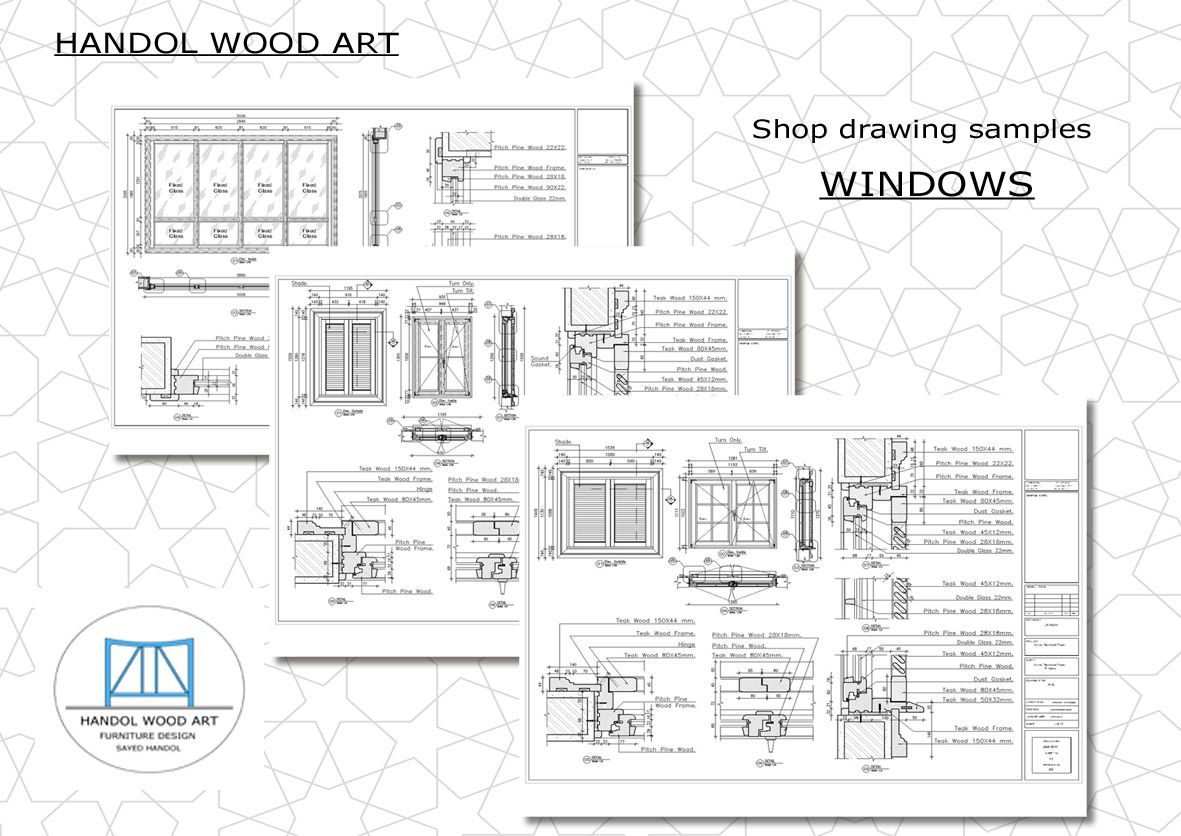Prepare Custom Architectural Millwork Joinery Shop Drawing