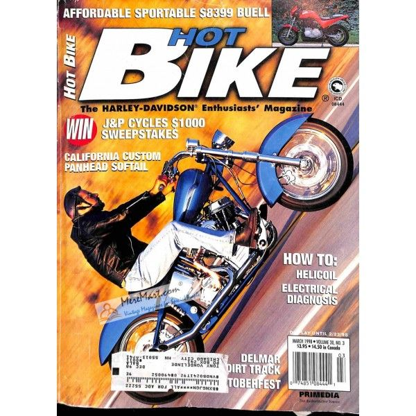 Hot Bike March 1998 Bike Magazine Hot Bikes Bike