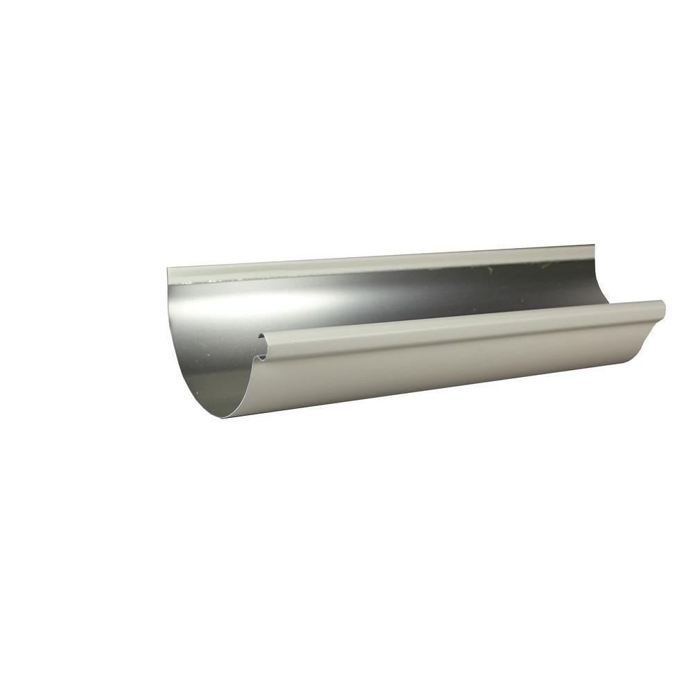 Spectra Metals 6 In X 10 Ft Half Round Low Gloss White Aluminum Gutter 6hrrt3w10 Gutter 10 Things Low Gloss