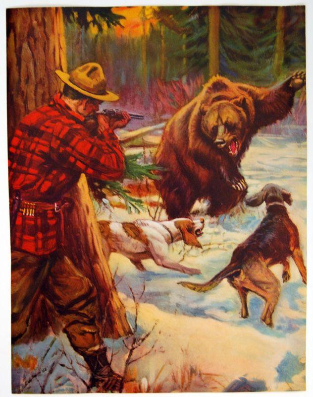 Vintage Bear | Bear hunting, Vintage, Vintage camping