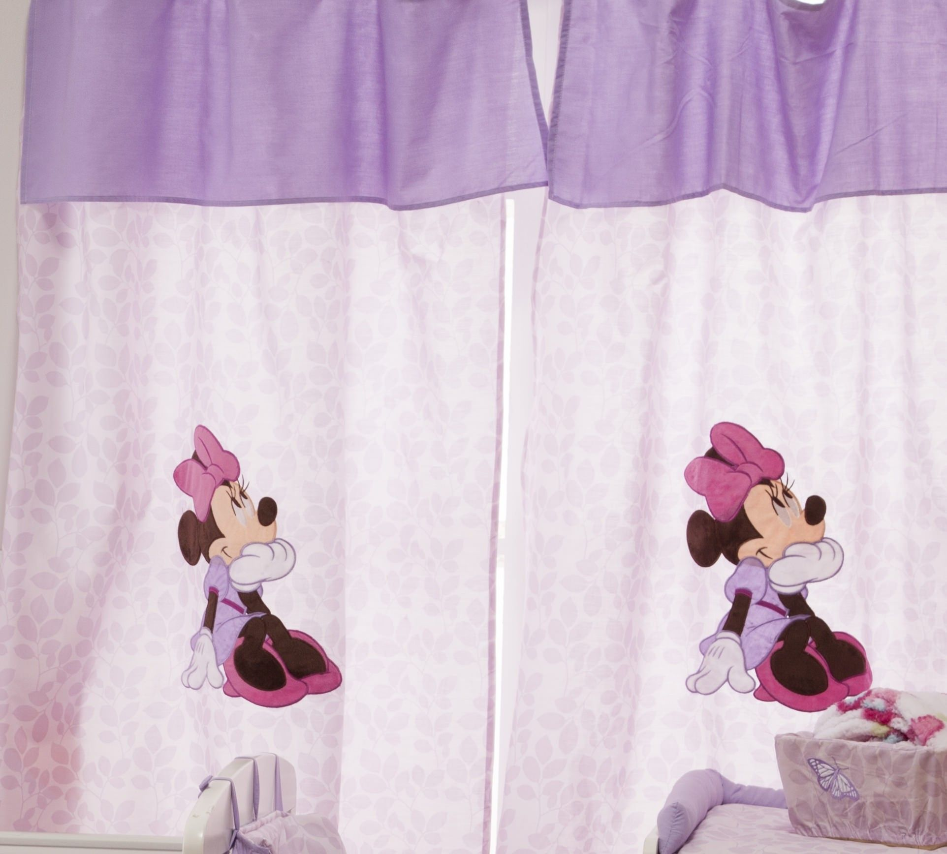 Minnie Mouse Butterfly Dreams 2 Curtains Window Panels
