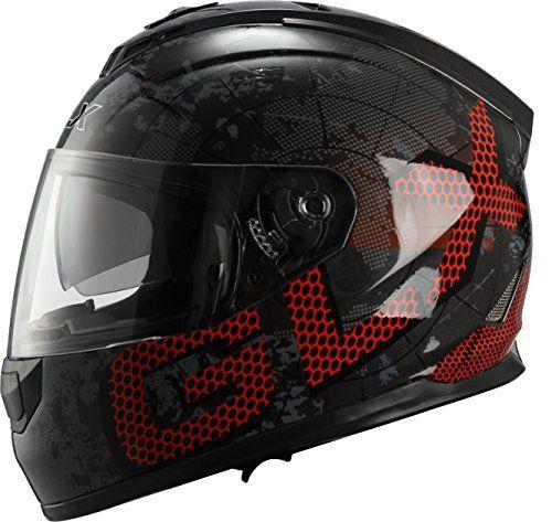 GLX Dual Visor Full Face Motorcycle Street Bike Helmet (Metal, Medium) (DOT). For product info go to:  https://www.caraccessoriesonlinemarket.com/glx-dual-visor-full-face-motorcycle-street-bike-helmet-metal-medium-dot/