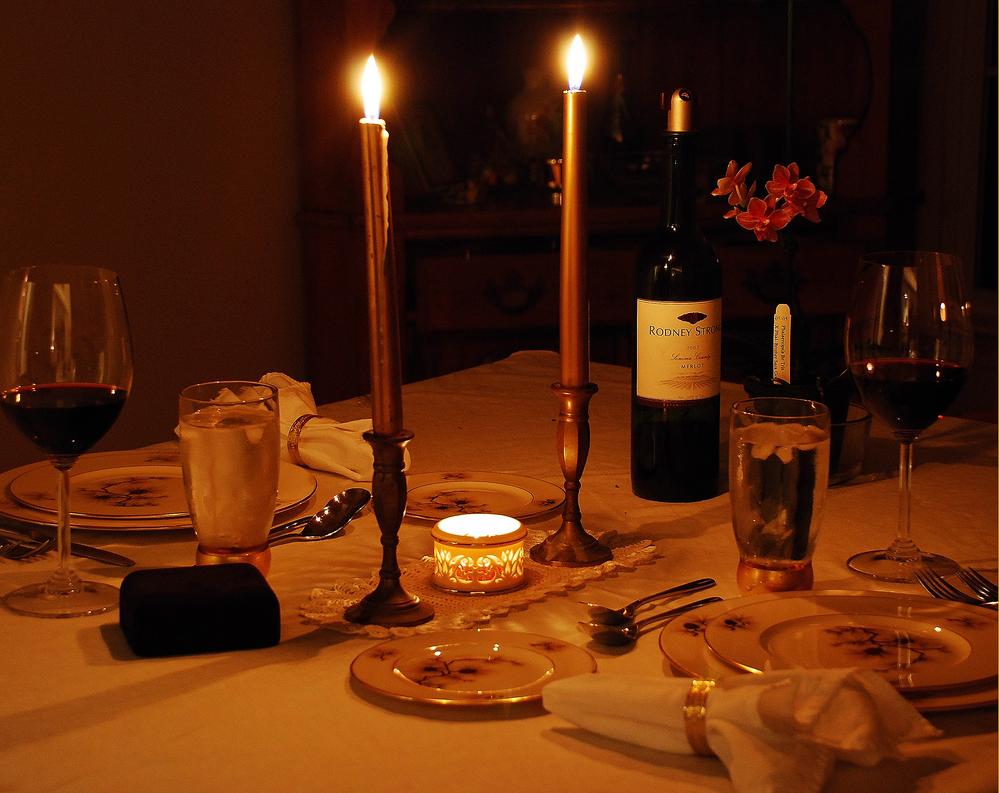 Картинки ужин при свечах на двоих, для