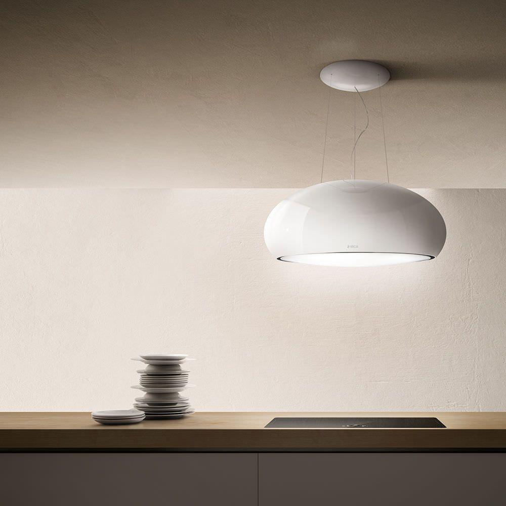 inseldunstabzug mit integrierter beleuchtung originelles design seashell by fabrizio cris. Black Bedroom Furniture Sets. Home Design Ideas