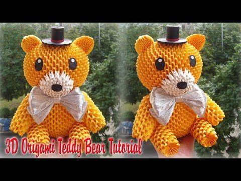 Origami Teddy Bear (Valentine's Day) - SunderOrigami! - YouTube | 360x480