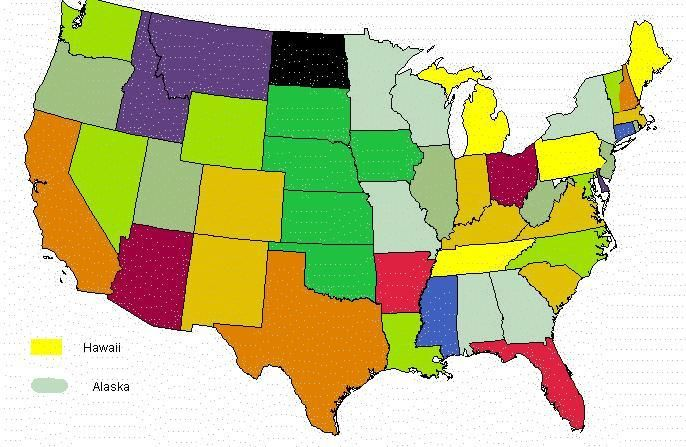US States Ive Visited The Warmer The Shade The More Time Ive - Map of us states i ve visited