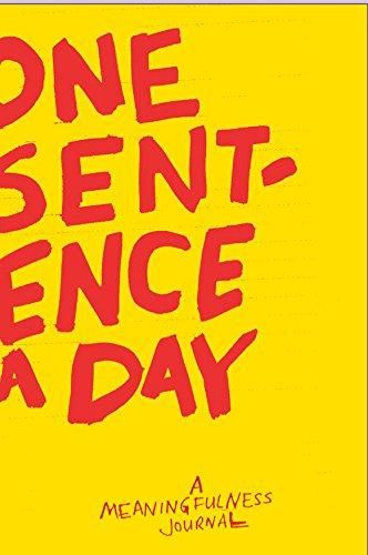 One Sentence A Day Book - Trouva