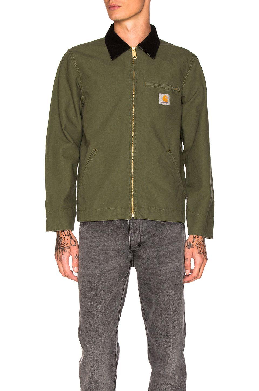 d95e6553cf652 Carhartt WIP Detroit Jacket in Rover Green   Black
