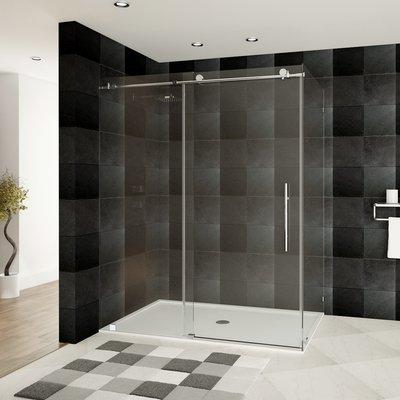 Lesscare Ultra C 60 Quot X 76 Quot Single Sliding Shower Door In
