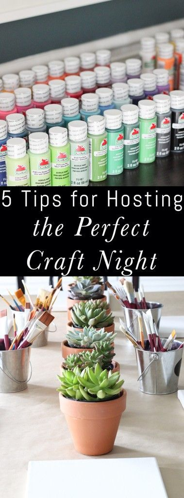 Photo of What a fun party or girls night idea! Tips for Hosting the Perfect Craft Night. …
