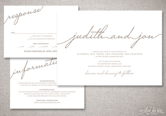 Modern Script \ - Formal Invitation Letters