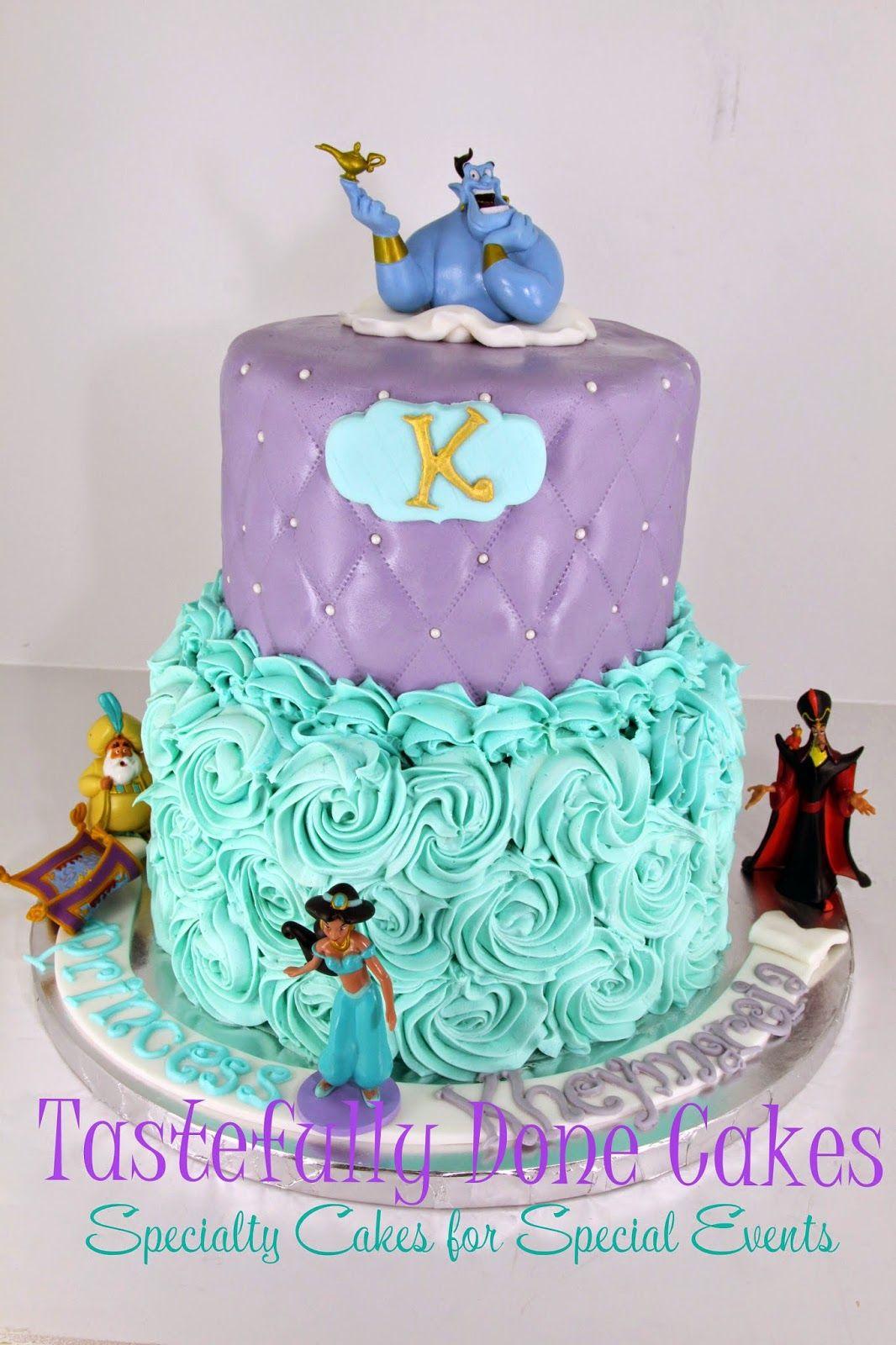 Disney Jasmine Aladdin Cake With Images Jasmine Birthday Cake