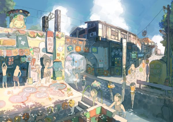 Imperial Boy Images Environment Concept Art Anime City
