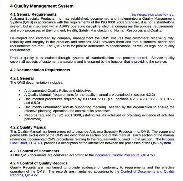 Quality Manual Templates | 10+ Free Word, Excel & PDF