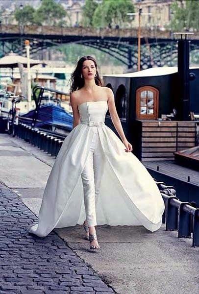 64a6f83356 Wedding Dress with pants