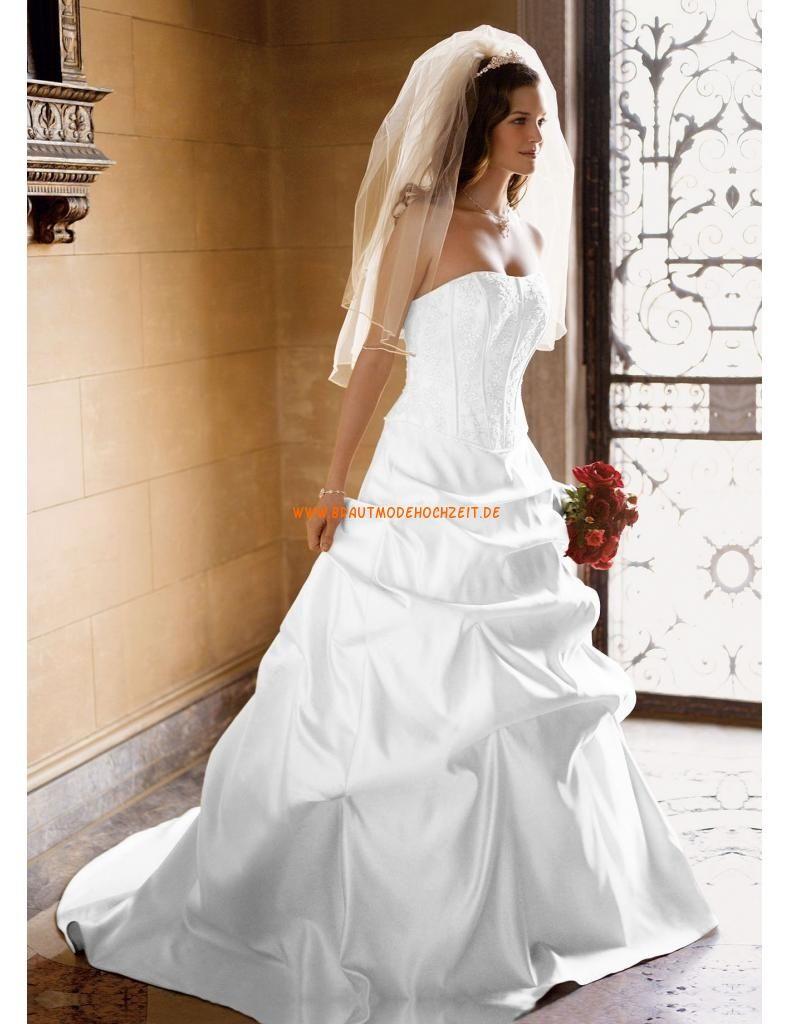 Trägerlos Designes Brautkleider 2014 aus Taft mit Stickerei ...