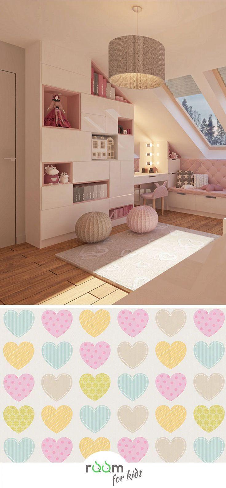 Gestaltungsidee für ein Mädchenzimmer im rosa Design #schminktischideen