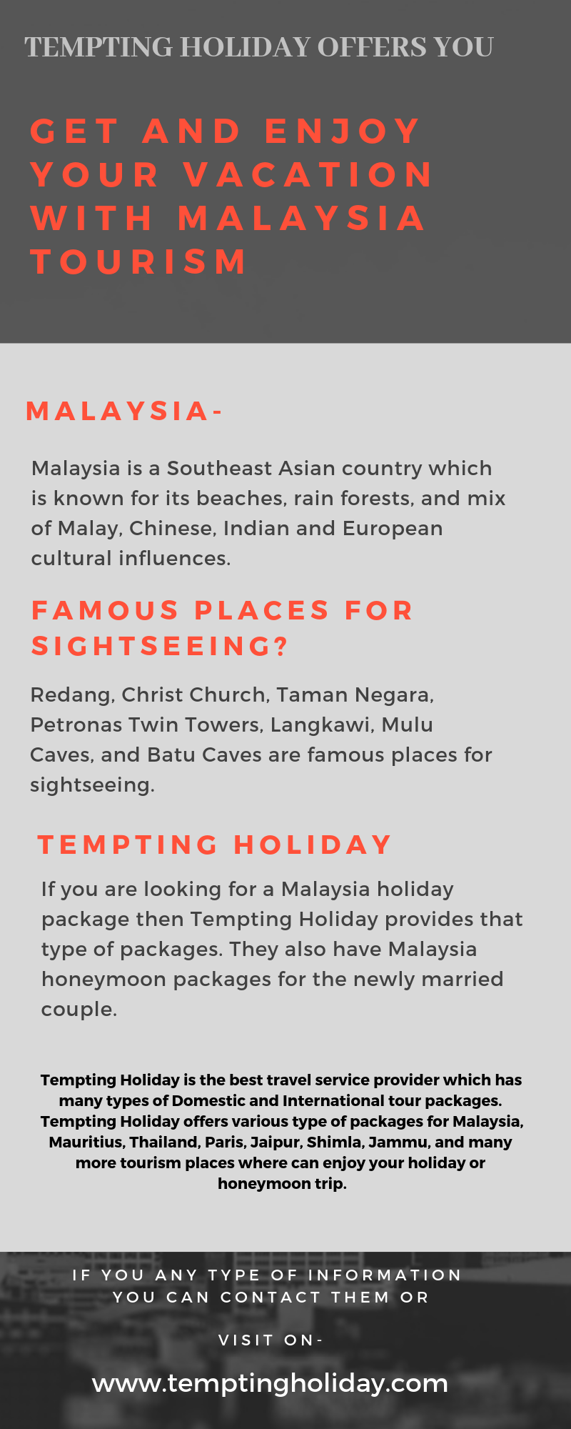 Awesome Malaysia Tourism Packages.