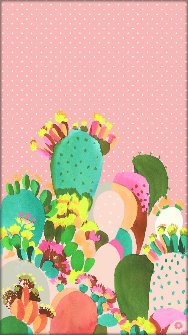 Cactus wallpaper cute Impresión de cactus, Fondos de