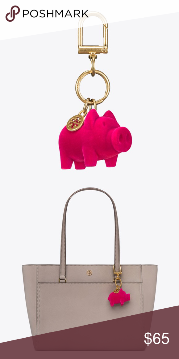 7000d6aa5a7a Tory Burch Crazy Pink Peggy The Pig Key Fob 🔶BRAND NEW WITHOUT TAGS AND  AUTHENTIC