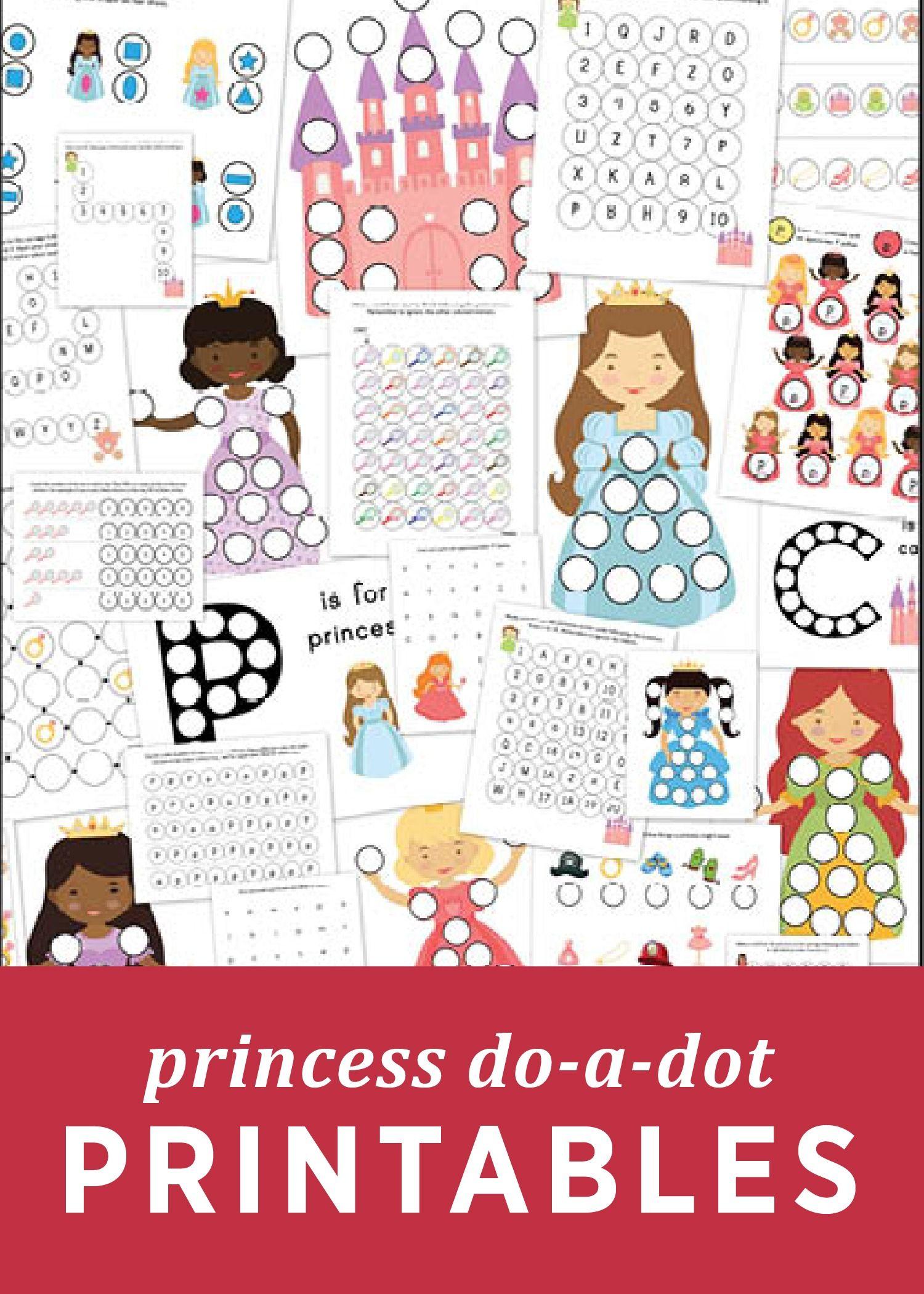 Princess Do A Dot Printables