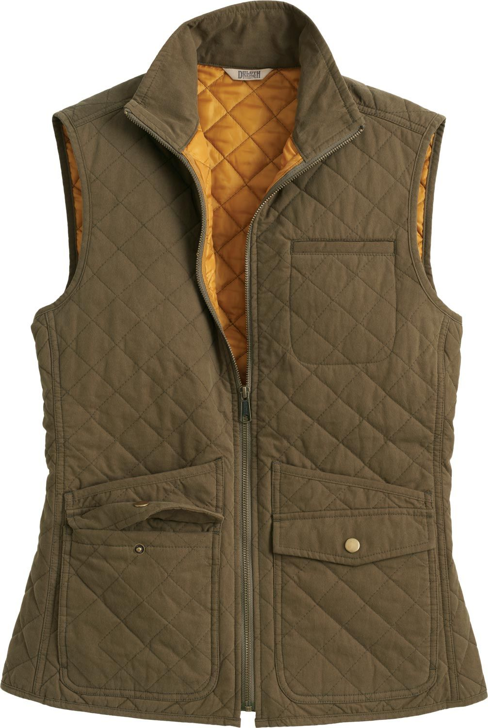 48519c86937 This Cortland Quilted Vest from Duluth Trading Company is packed with a  peck of feel-good features. From moisture-repelling brushed nylon exterior  to cozy ...